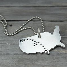 State to State Personalized Charm Necklace