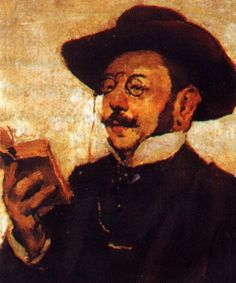 Retrato do escritor Ramalho Ortigão, s/d Columbano Bordalo Pinheiro ( Portugal, 1857-1929) óleo sobre tela