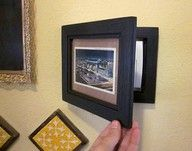 cute way to hide thermostat! I am going to do this soon!