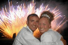 Fireworks @ wedding reception