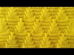 Best 12 This graphic Parallelogram Stitch Pattern creates a modern texture of interconnecting diagonal angles. Cable Knitting Patterns, Knitting Stiches, Knitting Videos, Knitting Charts, Crochet Videos, Knitting Designs, Knitting Projects, Crochet Stitches, Baby Knitting