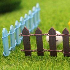Микро пейзаж украшения небольшой деревянный забор бонсай завод садоводство сад аксессуар декор украшение ставки бонсай саду ремесла
