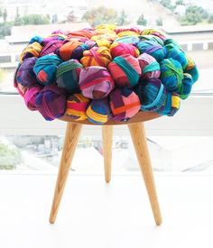 Recycled Silk Furniture Family Recycled Silk Chair, Ottoman and Stool