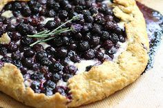 Blueberry Brie Galette - a cheesecake-like galette with a lavender scented crust.