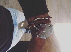 Meistersinger watch with a Mansai bracelet. R. Rijswijk