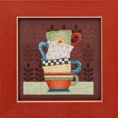 Debbie Mumm 2016 - Coffee Cups kit (cross stitch & beading)