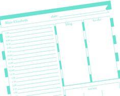 Day Planner - Mint Stripes - Organize