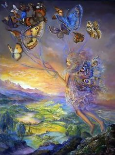 Butterfly Walker by Josephine Wall