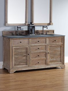 "60"" Paliano Double Sink Vanity - Driftwood"