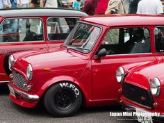 Mini Stance - Page 212 - Styling Red Mini Cooper, Mini Cooper Classic, Classic Mini, Classic Cars, Mini Morris, Mini Copper, John Cooper Works, Mini Clubman, Mini Things