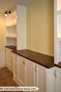 Kitchen Living Rooms Remodeling DIY built-in cabinets and bookcase wall - finished 4 - Built-In Bookcase Wall Living Room Built Ins, Living Room Decor, Home Theather, Bookshelves Built In, Bookcases, Diy Built In Shelves, Basement Built Ins, Basement Storage, Basement Bathroom