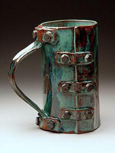 Lev Sharapan,Ceramics, Pottery at MudFire Gallery Hand Built Pottery, Slab Pottery, Pottery Mugs, Ceramic Pottery, Pottery Art, Thrown Pottery, Pottery Wheel, Clay Mugs, Ceramic Clay