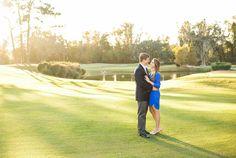Engagement photos at The Savannah Golf Club. See more on Savannah Soiree. http://www.savannahsoiree.com/journal/engagement-session-at-forsyth-park-the-savannah-golf-club