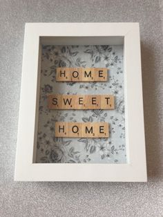 Home Sweet Home scrabble word frame New home by MadewithMagic1