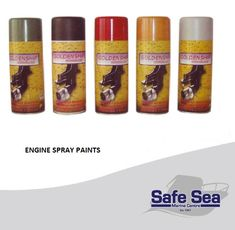 Spray paints with the original colors for maintenance and painting inboards and outboard marine engine as well as stern-drives units. Bottle: For motor interiors, inboard engines & I/O.