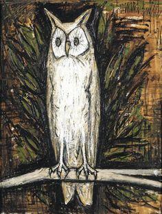Bernard Buffet - GRAND DUC; Creation Date: 1956; Medium: oil on canvas