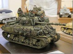 P1030452 Plastic Model Kits, Plastic Models, Tamiya Model Kits, Self Propelled Artillery, Sherman Tank, Model Tanks, Military Modelling, Ww2 Tanks, Military Diorama