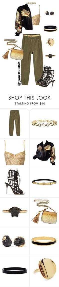 """2k17 Streetwear"" by jeunesauvage ❤ liked on Polyvore featuring Yeezy by Kanye West, Freida Rothman, Sophia Webster, Gucci, Versace, Dara Ettinger, Halcyon Days, L. Erickson and Elizabeth and James"