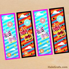 FREE Printable LEGO Movie Unikitty Bookmarks