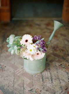 I have rustic flower pots that flowers would look awesome in!!