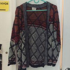 Fun open cardigan! great condition! Fun pattern! LA Hearts Sweaters Cardigans