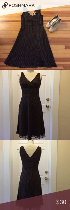"J Crew brown polka dot Aline crepe dress sz P6 ▫️J Crew brown polka dot Aline crepe sleeveless dress sz P6 ▫️side zip closure ▫️shell = 100"" silk; lining = 100% polyester ▫️bust = 33""; waist = 29""; length = 24"" from waist J. Crew Dresses Midi"