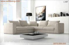 Ghế chữ L với thiết kế đồng bộ, chất liệu nỉ, đệm liền tựa rời. http://www.sofasang.com/sofa/sofa-goc-chu-l/