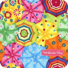 Timeless Treasures Multi Umbrellas Yardage SKU# C9694-MULTI