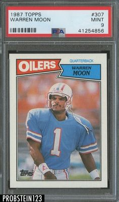 1987 Topps  307 Warren Moon Houston Oilers HOF PSA 9 MINT ea6a26bd1