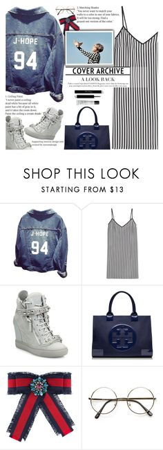 """""""Not Today - BTS"""" by anarita11 ❤ liked on Polyvore featuring Marco de Vincenzo, Giuseppe Zanotti, Tory Burch, Gucci, ZeroUV, NARS Cosmetics, nottoday, bts, BangtanBoys and Lit"""
