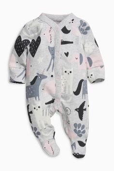 Buy Slogan Sleepsuits Three Pack (0mths-2yrs) from the Next UK online shop 1963cd3c55f90