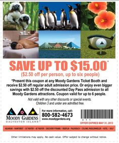 Captivating Moody Gardens Discount