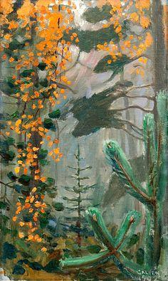 AKSELI GALLEN-KALLELA Autumn Forest (1902)