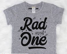 Rad One - First Birthday Shirt - Boys Birthday Shirt - Boys First Birthday - Birthday Shirt - Im One Family Birthday Shirts, Boy First Birthday, Happy 1st Birthdays, Navy Color, Clothing Items, Shirts For Girls, Size Chart, Just For You, Boys