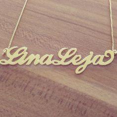 Pozlačena verižica z dvojnim imenom Lina Leja