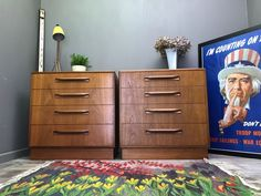 Every item is oiled and carefully checked over. Chest of Drawers. Nest of Tables. Pair of G Plan Drawers. Side / Bedside Tables. Overall this is a nice pair of drawers. Coffee Tables. The drawers have nice handles and plenty of storage.   eBay!