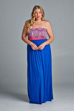Plus Size Madly In Love Maxi Dress from Elohai Plus Size Boutique
