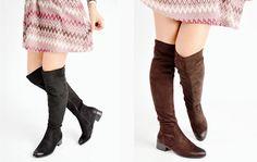 Μπότες σε Suede με Τακούνι www.luigi.com.gr