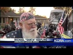 Bikers Escort Denair Boy To School - YouTube video shows Biker Vets providing physical ride support for a young boy wanting to ride to school with the American flag on his bicycle.