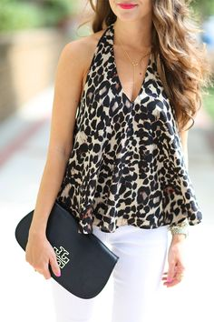 love this leopard top