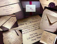 wedding invitations for a berry wedding, customizable