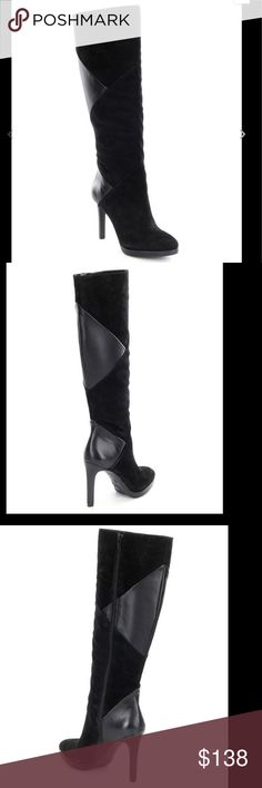 """🆕ANTONIO MELANI  KATERA BOOTS WOMEN'S (Sz 6.5) Antonio Melani women's knee high Katera style boots. The boots has suede upper with retro sheep and kid suede detailing . It has side zip closure. The lining is synthetic. TR outsole with Antonio Melani logo imprint. The measurement are approximately 17.33"""" shaft height , 14.57""""  shaft circumference. The heel  height is approximately 3.94"""" . BRAND NEW WITH TAG. IT DOESN'T COME WITH A BOX. ANTONIO MELANI Shoes Heeled Boots"""