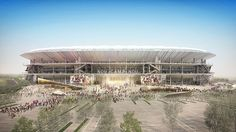 barcelona football club has officially presented plans for its new camp nou stadium, showing more details of the major renovation.