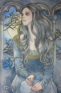 Stunningly Beautiful Painting of Lyanna Stark by Sever69  Check out awesome GOT merchandise here