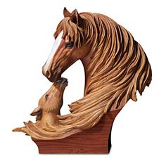 "Item no:116697001 2 ""Bonds Of Love"" Lifelike Equine Masterpiece Sculpture"