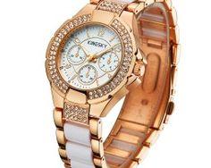 Značkové dámske hodinky s úpravou v ružovom zlate Chronograph, Watches, Accessories, Tag Watches, Clocks, Ornament