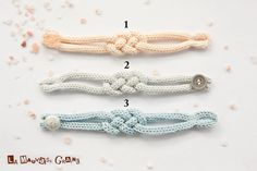 """French knitted cotton bracelet - """"rising sun"""""""