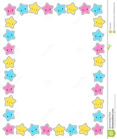 Illustration about Cute colorful stars border / frame for greeting cards, party invitation backgrounds etc. Illustration of fest, cute, clean - 12221290 Old Paper Background, Kids Background, Page Borders Design, Border Design, Borders For Paper, Borders And Frames, Kids School Organization, School Board Decoration, Bullet Journal Banner