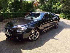 black BMW m6