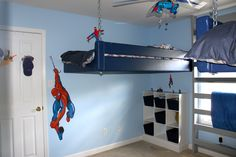 Spider-Man room for my little boys that my husband and I came up with.